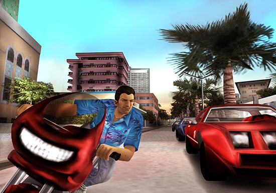 Theres A Secret Message Hidden In The PS2 Loading Screen GTA Vice City 1