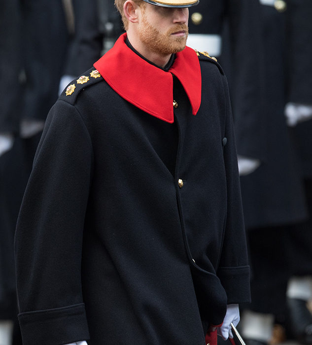 Prince Harry Breaks Huge Rule During Remembrance Day Parade Harry GettyImages 873186898 SMALL 633x700