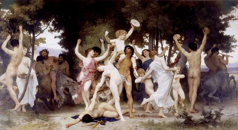 Were All Celebrating Christmas On The Wrong Day William Adolphe Bouguereau 1825 1905   The Youth of Bacchus 1884