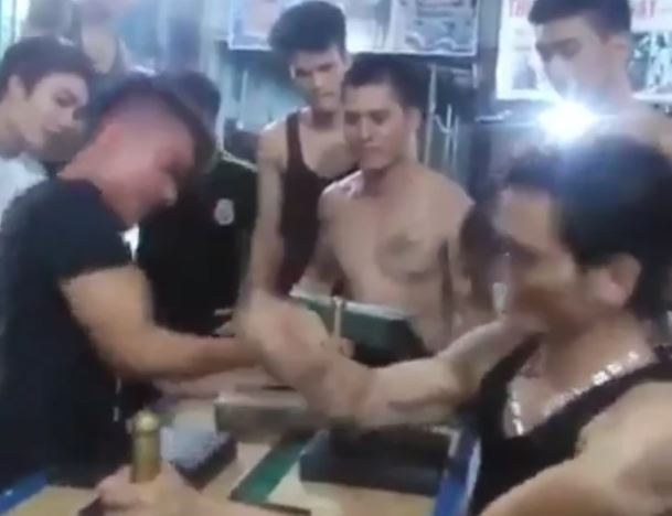 Mans Bone Breaks Backwards During Arm Wrestle arm wrestle web