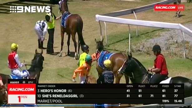 Jockey Violently Attacks Horse Because It Nearly Made Him Fall Off caboche