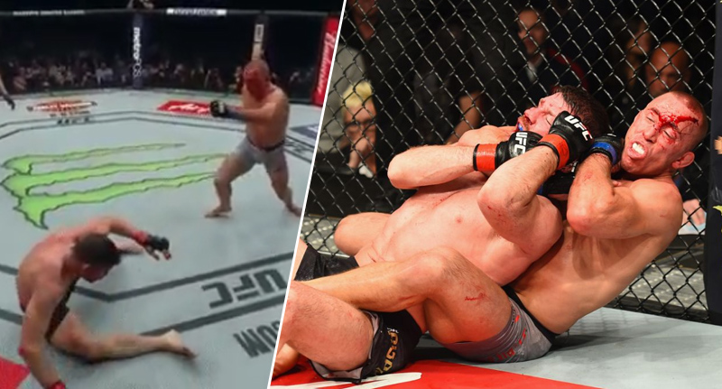 Michael Bisping Choked Unconscious By George St Pierre At UFC 217 depp face 1