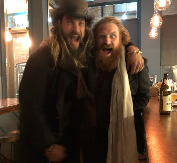 Khal Drogo Met Tormund And The Hound In Real Life And Had Best Bromance drogo n tormund 1