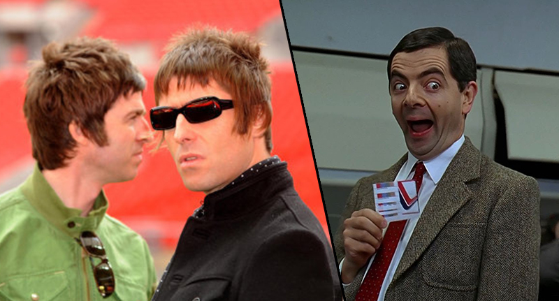 Liam Gallagher Wants Mr Bean To Play Noel In Oasis Biopic gallagher bean