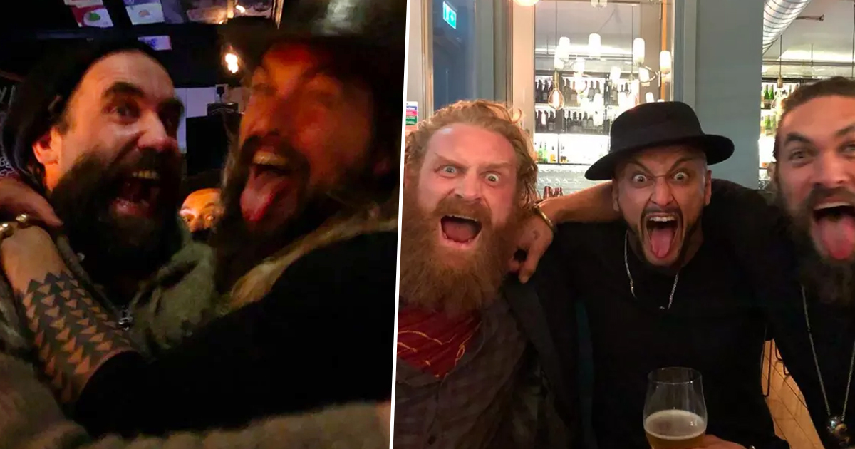 Khal Drogo Met Tormund And The Hound In Real Life And Had Best Bromance khal drogo hound tormund fb