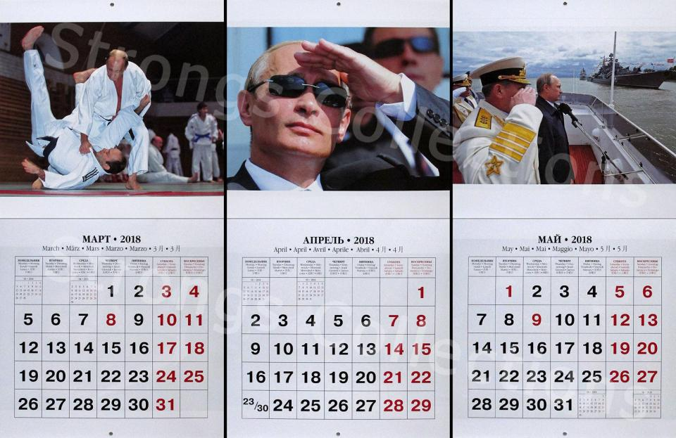 The Action Putin 2018 Calendar Is Out In Time For Xmas putin 6