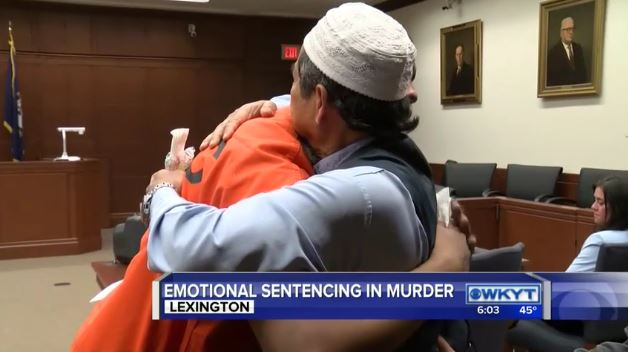 Dad Hugs Man Who Killed His Son In Court And Brings Judge To Tears relford hug
