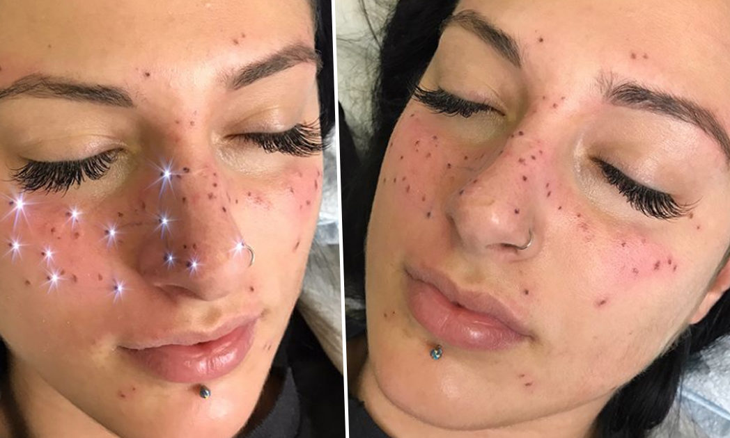 fff6ccface921 Getting A Star Sign Tattoo On Your Face Is Latest Ridiculous Beauty ...