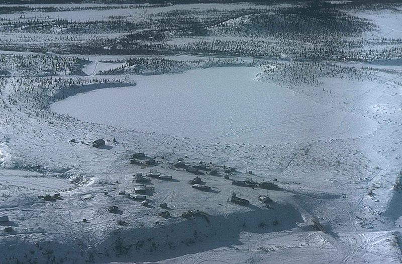 US Votes To Allow Oil Drilling In Arctic Wildlife Refuge 800px Aerial view of of arctic village adjacent to arctic national wildlife refuge