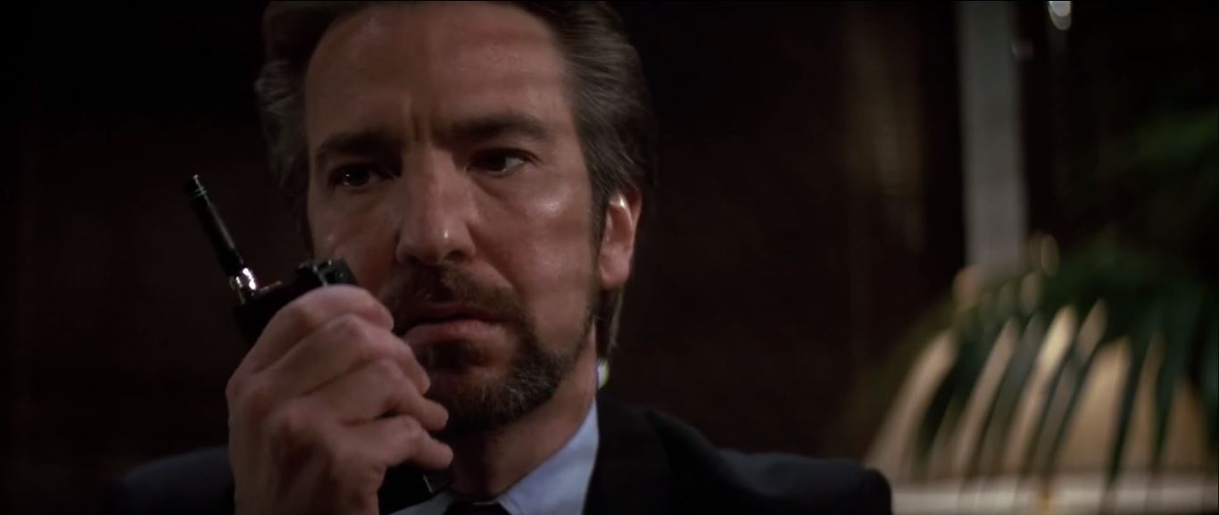 Alan Rickman as Han Gruber in Die Hard