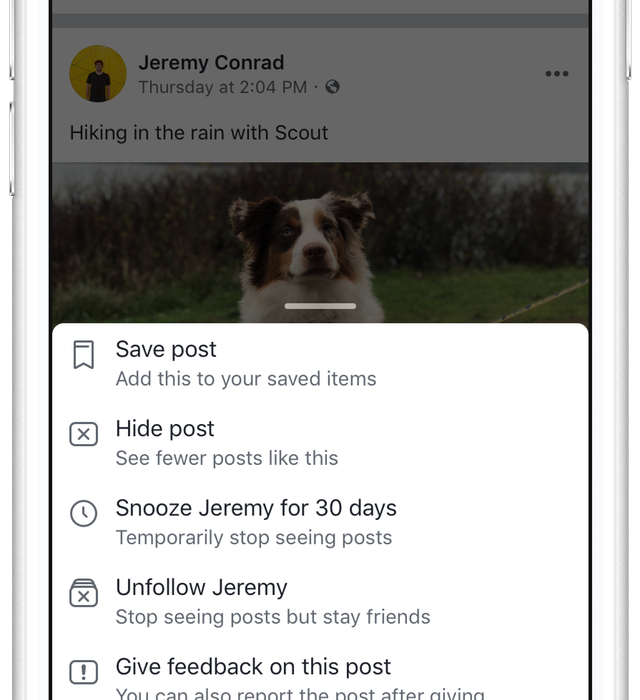 You Can Now Snooze Your Friends On Facebook Facebook 3 640x700