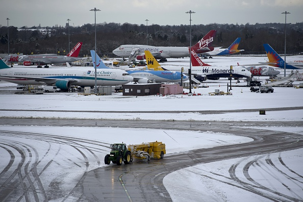 Flights Grounded And Roads Closed As Snow Chaos Hits UK GettyImages 462460754