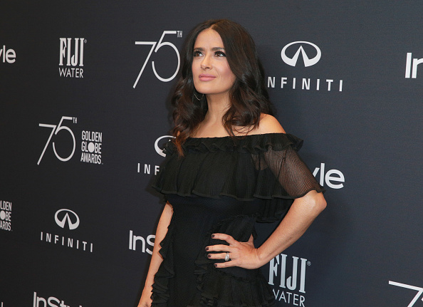 Salma Hayek attends the Hollywood Foreign Press Association and InStyle celebrate the 75th Anniversary of The Golden Globe Awards