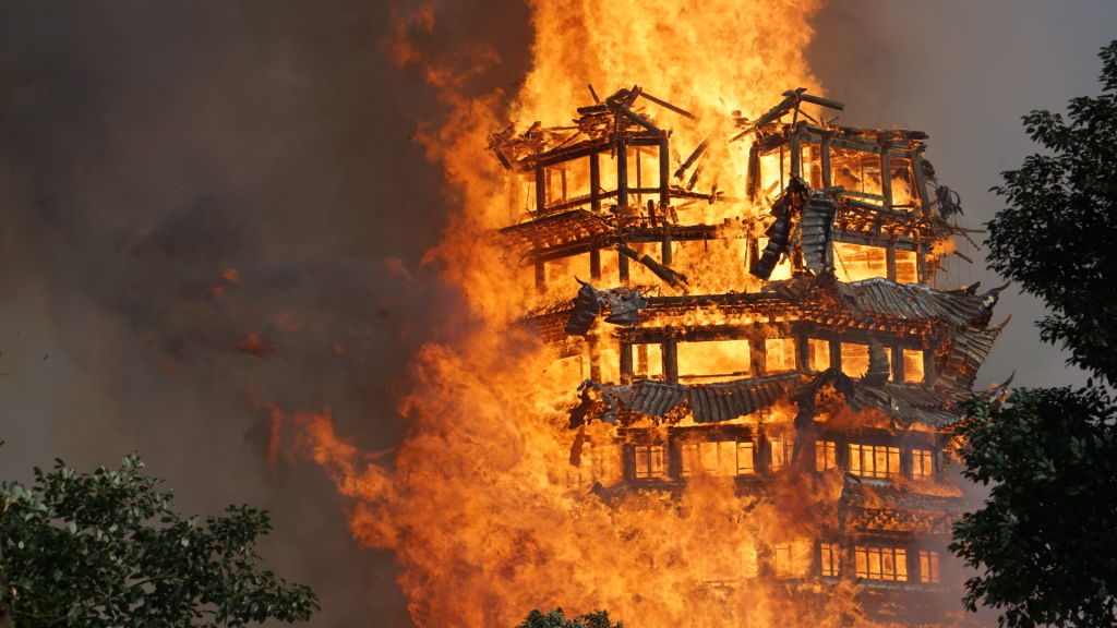 Asias Tallest Wooden Pagoda Burns To Ground After Huge Fire GettyImages 889929850