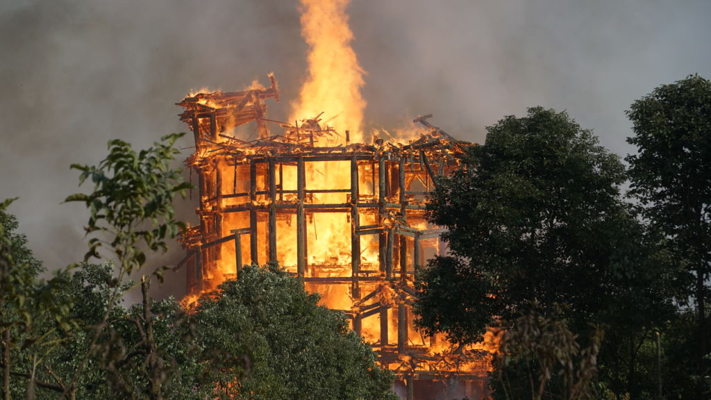 Asias Tallest Wooden Pagoda Burns To Ground After Huge Fire GettyImages 889929864