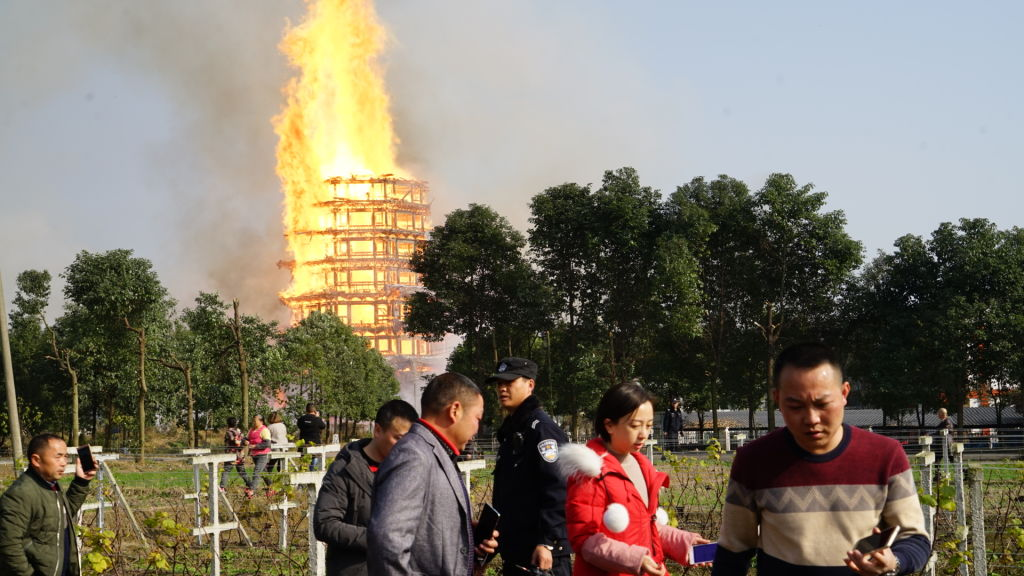 Asias Tallest Wooden Pagoda Burns To Ground After Huge Fire GettyImages 889929868