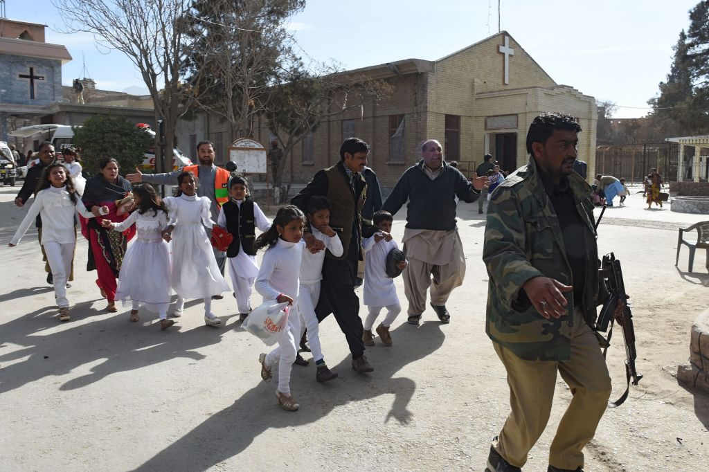 Suicide Bomber Attacks Pakistani Church During Christmas Service GettyImages 893993052
