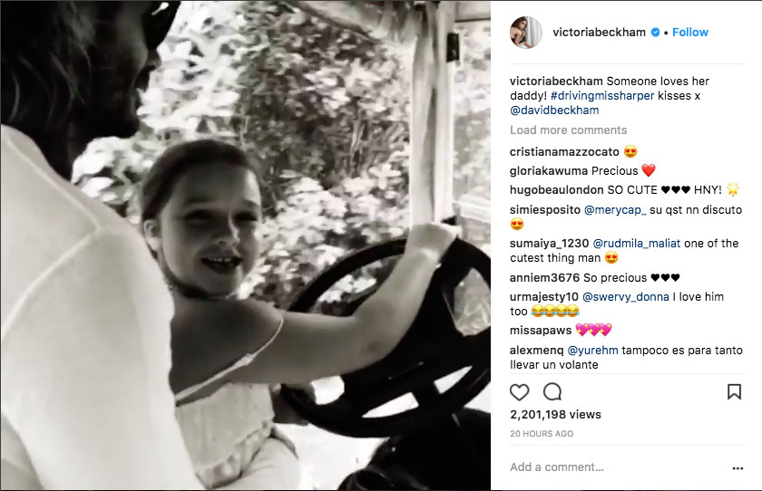 David Beckham Causes Controversy With What He Was Caught Doing With Daughter Harper Harper Insta