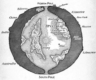 New Hollow Earth Conspiracy Makes Flat Earthers Look Like Einstein Map of the Interior World