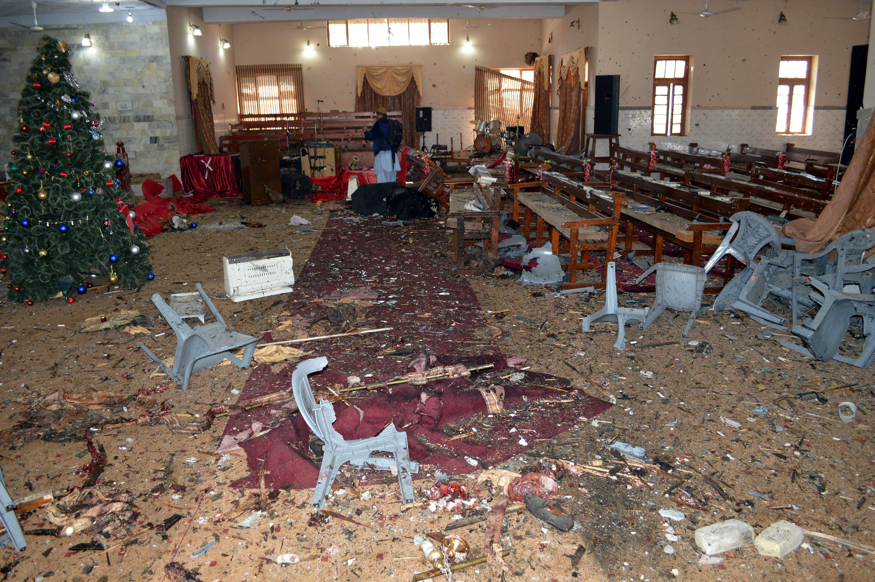 Suicide Bomber Attacks Pakistani Church During Christmas Service PA 34180681