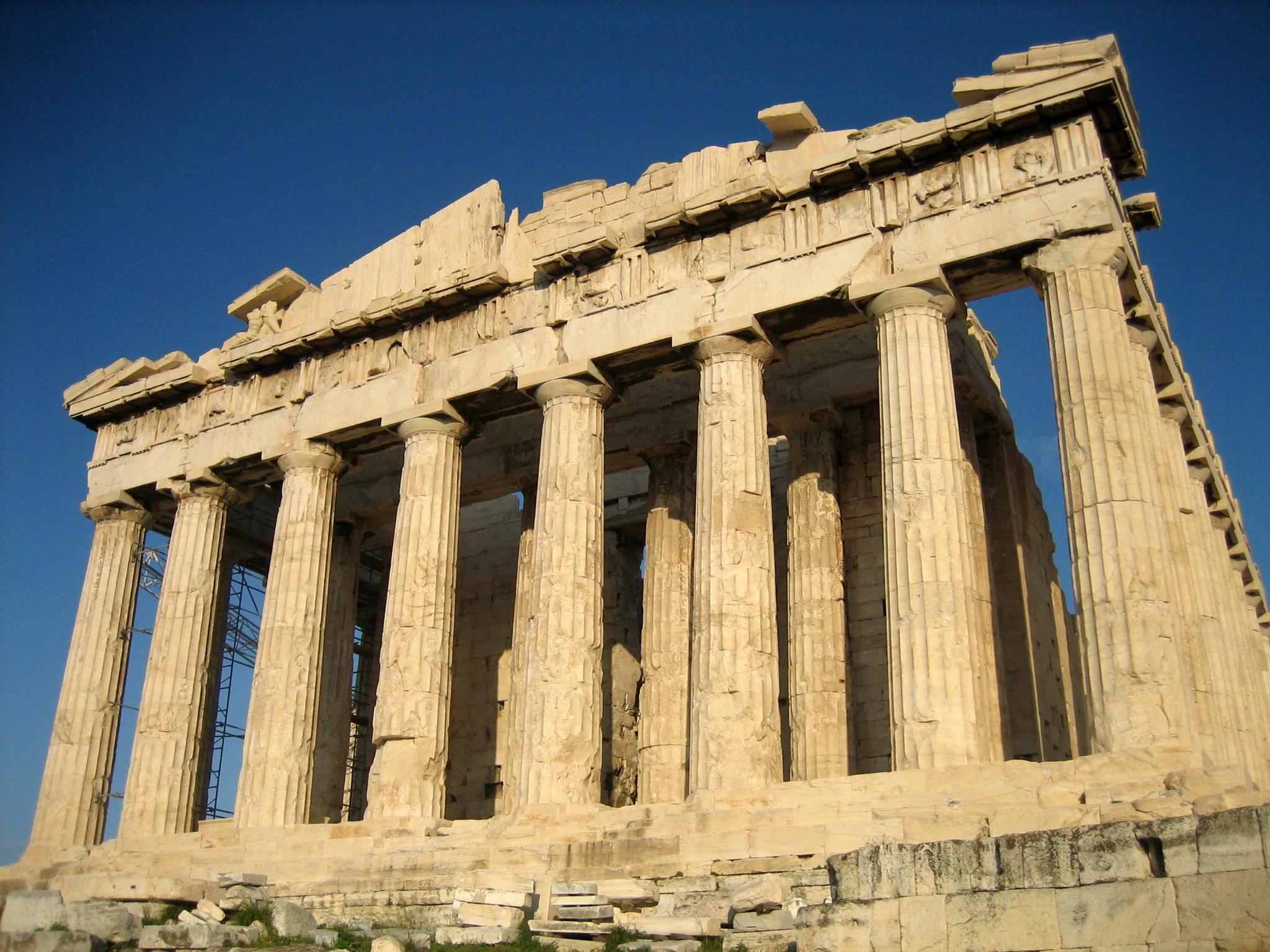 Ancient Greek Man Proved Earth Was Round 2,000 Years Ago Without Leaving Home Parthenon from west
