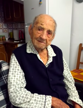 Worlds Oldest Man Says Drinking Wine Is Key To Long Life Screen Shot 2017 12 14 at 09.46.25