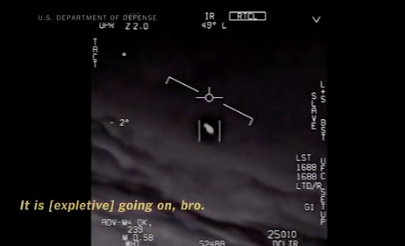 Classified Footage Of UFO Tracked By Navy Released By Military Screen Shot 2017 12 18 at 15.35.33
