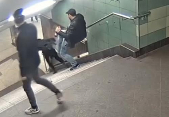 Man Who Brutally Kicked Woman Down Metro Stairs Beaten Up In Jail Stairs A