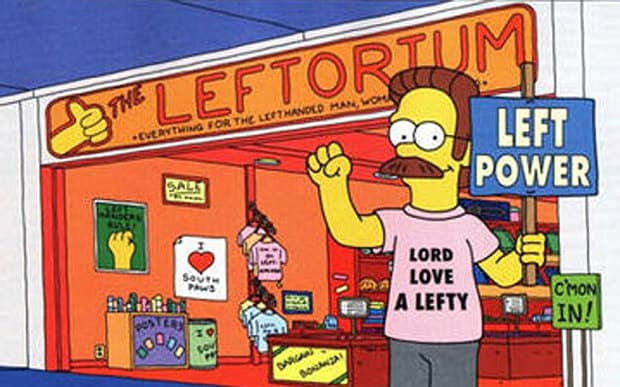Left Handed People Are More Talented Than Right Handed People flanders 3124522b