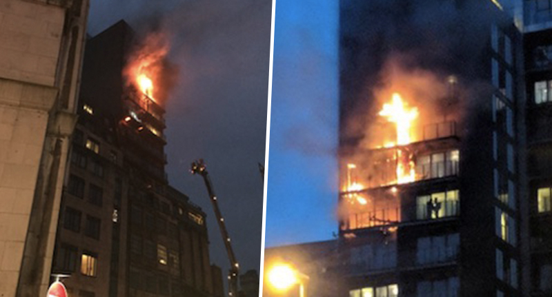 Casualty Confirmed After Blaze Rips Through Manchester Tower Block flatfireFacebookThumbnail