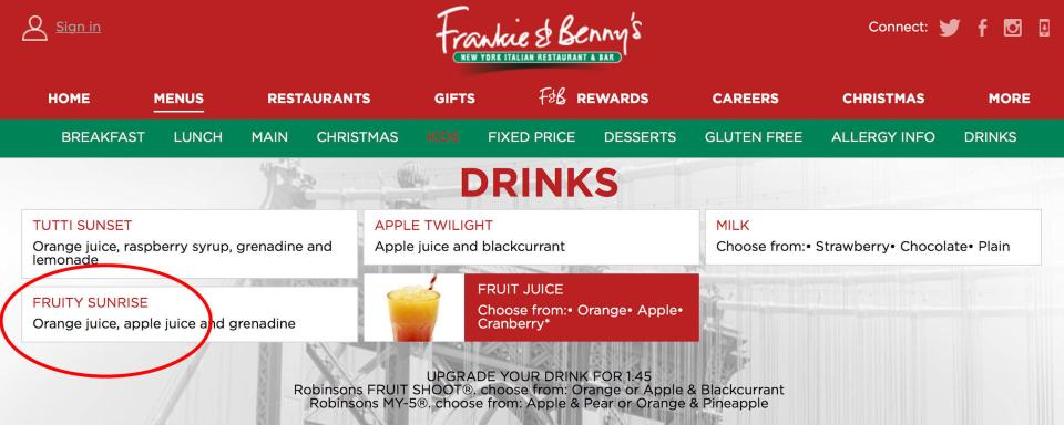 Dad Furious After Frankie And Bennys Get His Daughter, 4, Drunk nintchdbpict000375224996