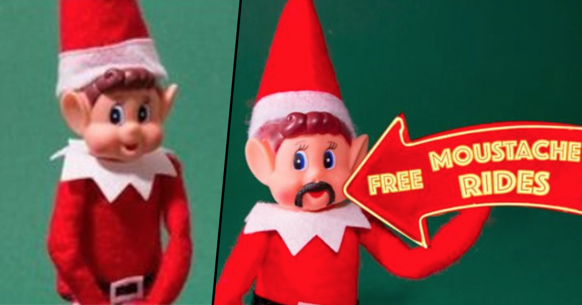 Poundland Posts Picture Of Elf On The Shelf Performing Lewd Act On Barbie poundland elf shelf fb