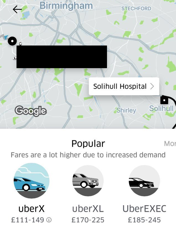 Uber Try To Charge Doctor £149 For Trip Because Of The Snow surchargeuber