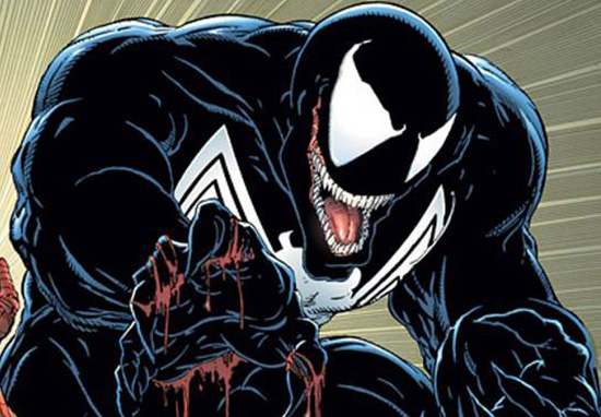 Venom Symbiote in Marvel comic print