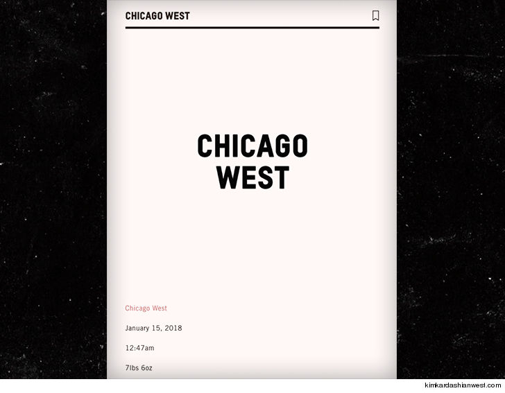 Kim And Kanye Have Named Their New Daughter Chicago 0119 chicago west kim kardashian baby surrogacy 4