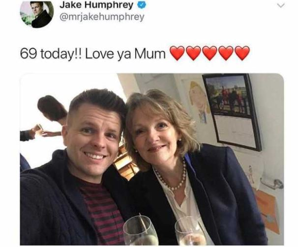 Jake Humphreys 69th Birthday Message To Mum Didnt Go To Plan 6af1e3585a650c4663aeebdd236d444d
