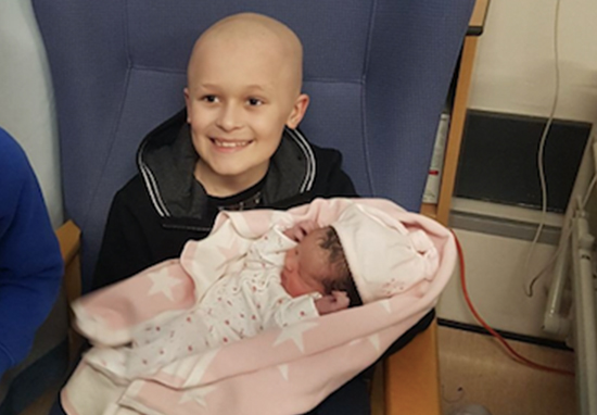 Nine Year Old Boy Battled Terminal Cancer Long Enough To Meet New Baby Sister Bailey A