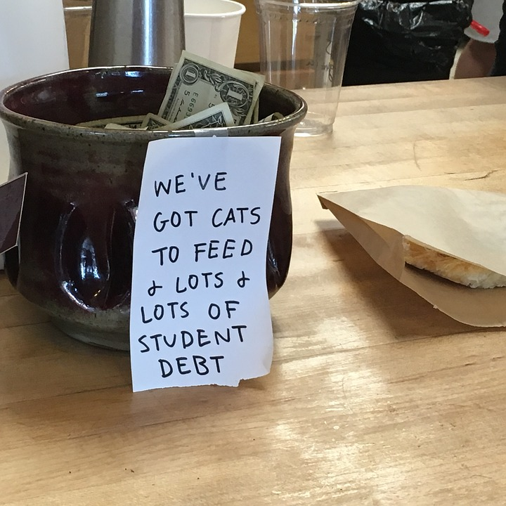 Millennials Have Forgotten To Mind Our Manners, Apparently Coffeeshop Tip Jar Tips Barista Student Debt 1796480