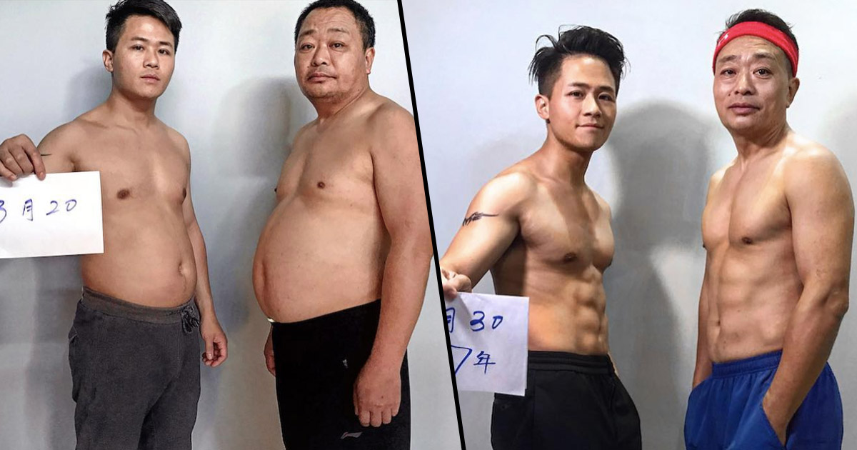 Dad And Son Share Incredible Transformation Pictures Father face