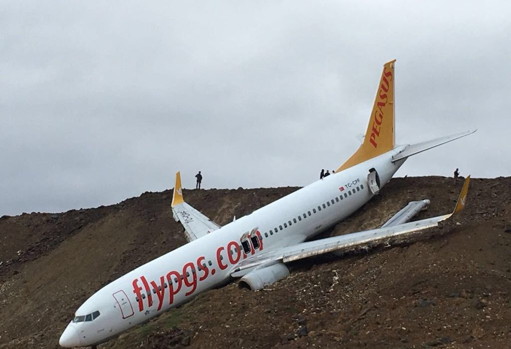 Passenger Jet Skids Off Runway And Almost Slides Into The Sea GettyImages 904692338 1024x700
