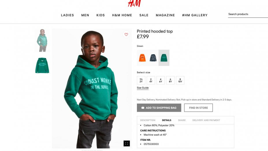 H&M Face Huge Backlash After Posting Racist Jumper Advert On Website H M