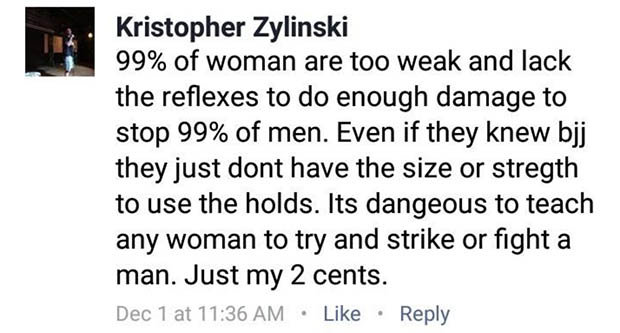 Troll Who Said 99% Of Men Could Beat Female MMA Fighters Gets His Ass Kicked KRIS FB