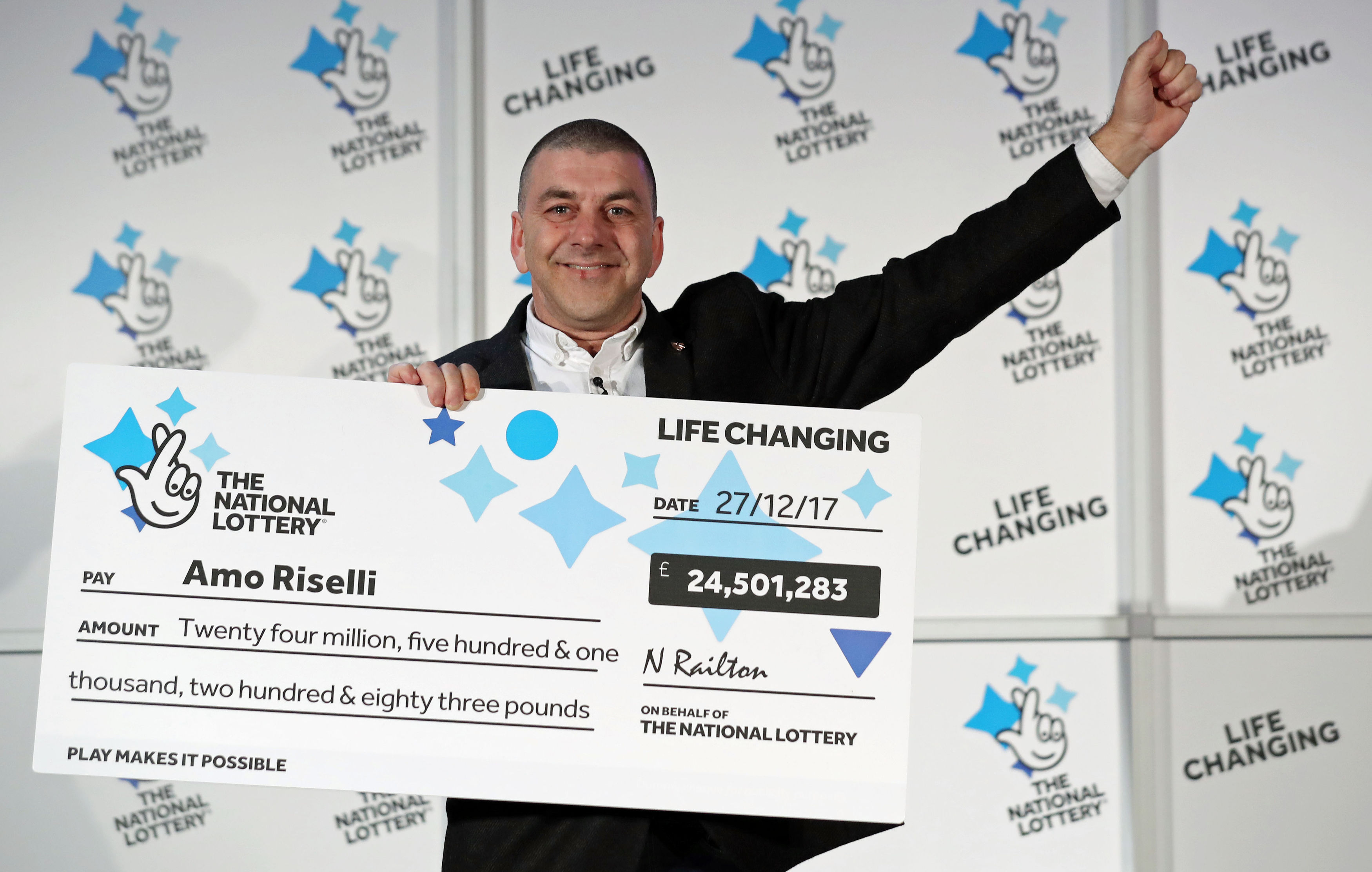 Cab Driver Who Won £25 Million On Lottery Reveals Identity PA 34311309