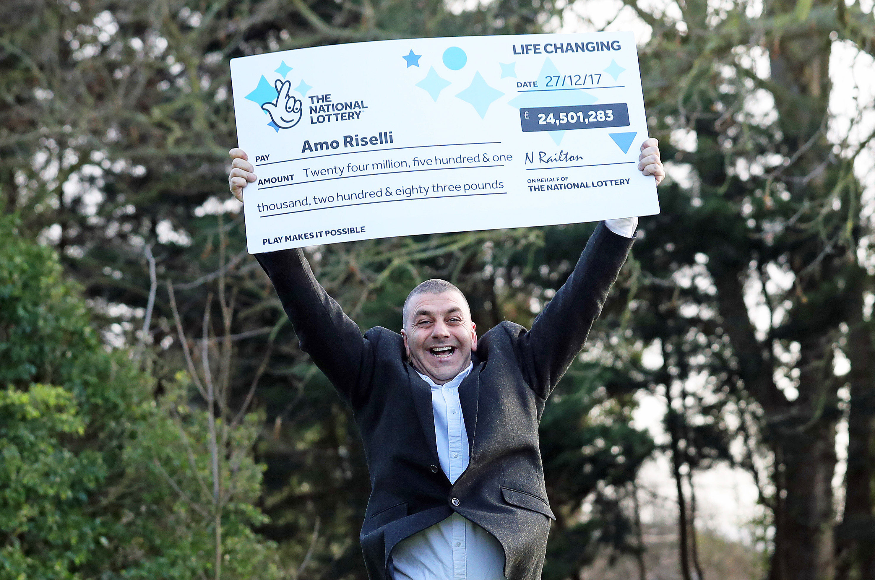 Cab Driver Who Won £25 Million On Lottery Reveals Identity PA 34311497