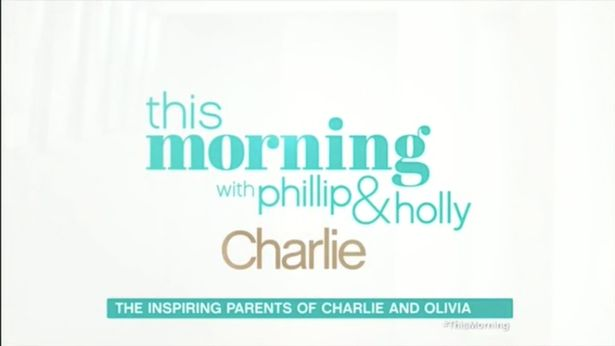 Heartbreaking Reason Charlie Added To This Morning Title Today RLP CHP 160118THISMORNING 8511JPG
