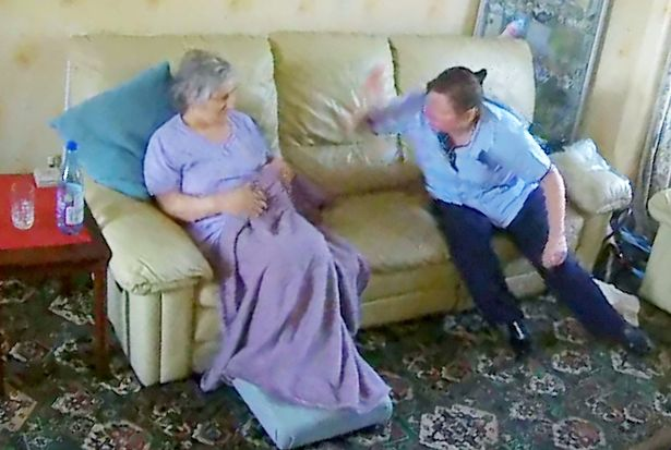 Daughter Watches Helplessly On Phone As Mother With Dementia Beaten By Carer SWNS CARER ASSAULT 006
