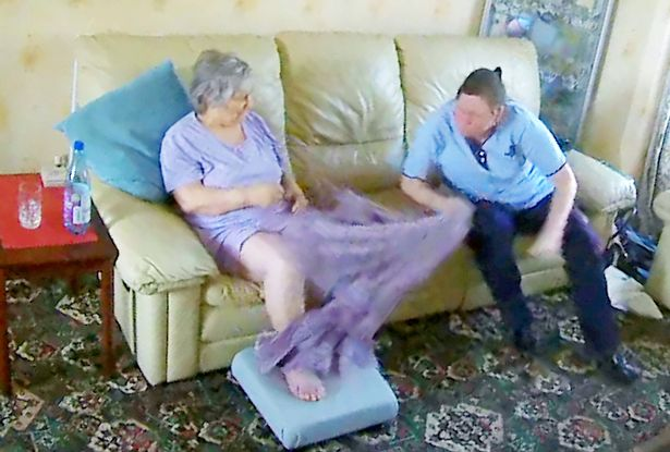 Daughter Watches Helplessly On Phone As Mother With Dementia Beaten By Carer SWNS CARER ASSAULT 007
