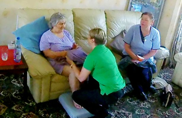 Daughter Watches Helplessly On Phone As Mother With Dementia Beaten By Carer SWNS CARER ASSAULT 011