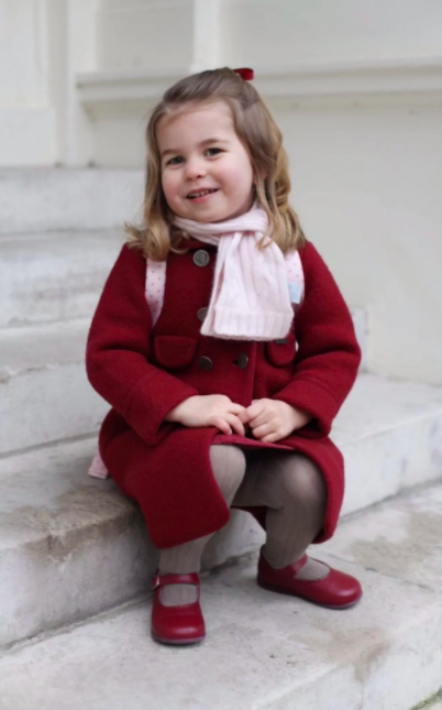 Princess Charlotte Heads Off For First Day At Nursery Screen Shot 2018 01 08 at 17.31.11