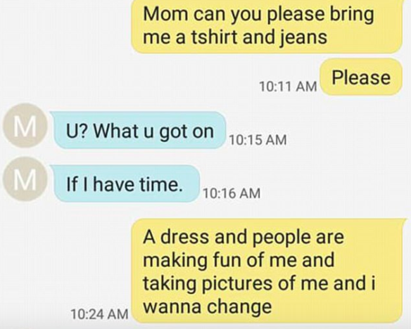 Teens Heartbreaking Texts To Mum After Bully Takes Picture Of What She Wore To School Screen Shot 2018 01 19 at 07.47.43 584x468